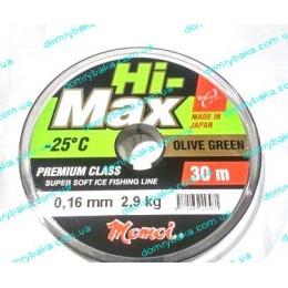 Леска Momoi Hi Max Olive Green   0.16мм 2,9kг 30м(9995924)