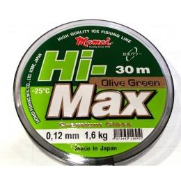 Леска Momoi Hi Max Olive Green   0.12мм 1.6kг 30м(9995071)