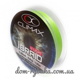 Шнур CLIMAX iBraid 4 UL chartreuse 135м (9998368)