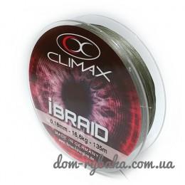 Шнур CLIMAX iBraid 8 зеленый 135м (9998373)