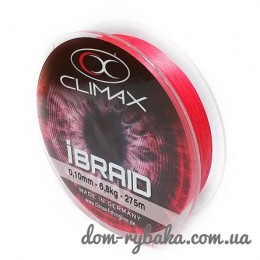 Шнур CLIMAX iBraid 8 fluo-red 275м (9998372)