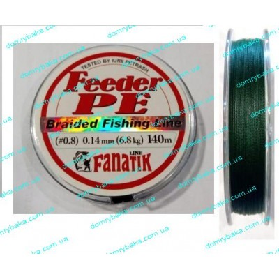 Шнур Fanatik Feeder  PE 0.16мм 8,1кг 140m зеленый(9995059)