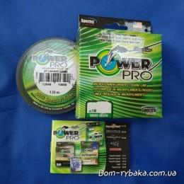 Шнур Power Pro 0,28мм 20кг 135м зеленый(9992866)