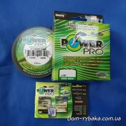Шнур Power Pro 0,32мм 24кг 135м зеленый(9992867)