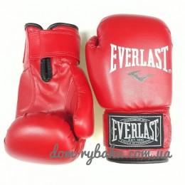 Перчатки боксерские Everlast  6oz кожа красные EVDX380-6R (9998298)