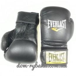 Перчатки боксерские Everlast American Star 8oz кожа черные EV-8ASB (9998297)