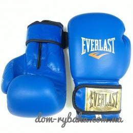 Перчатки боксерские Everlast American Star 8oz кожа  синие EV-8ASB (9998296)