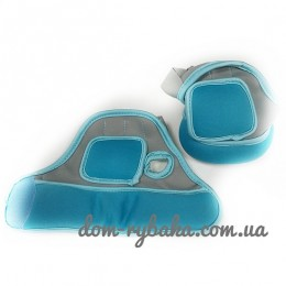 Перчатки с утяжелителем Iron Master 0.5кг сине-серые (9998303)