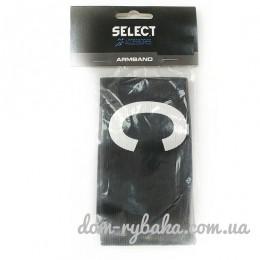 Капитанская повязка Select эластичная черная липучка Senior (9998442)