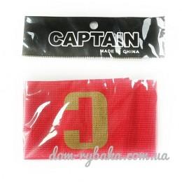 Капитанская повязка LTX эластичная красная липучка (9998444)