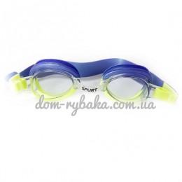 Очки для плавания Spurt 1122AF 42 Violet-yellow детские (9998823)