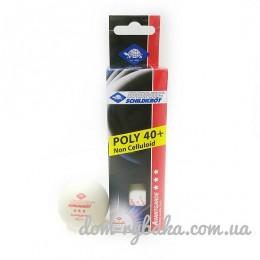 Шарик для настольного тенниса Donic Schildkrot белый 3шт  (9998378)