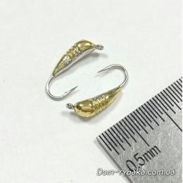 Мормышка вольфрамовая Shark  Банан с насечками  124025  0.31г   №16 золото (9996404)