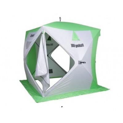 Палатка для зимней рыбалки Fishing ROI Cyclone Куб бело-зеленая (9998553)