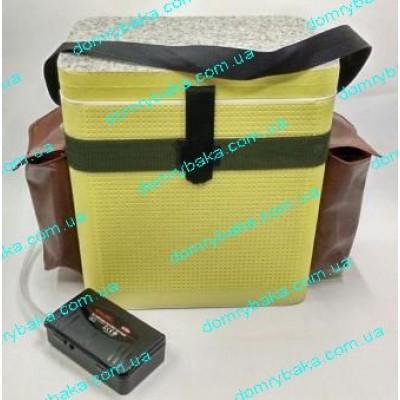 Кана для живца с боковыми карманами теплая 9л под аэратор с компрессором ( 9995882)